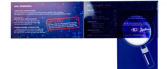 Taschenlampen Effekt mit Leuchtfolie drucken