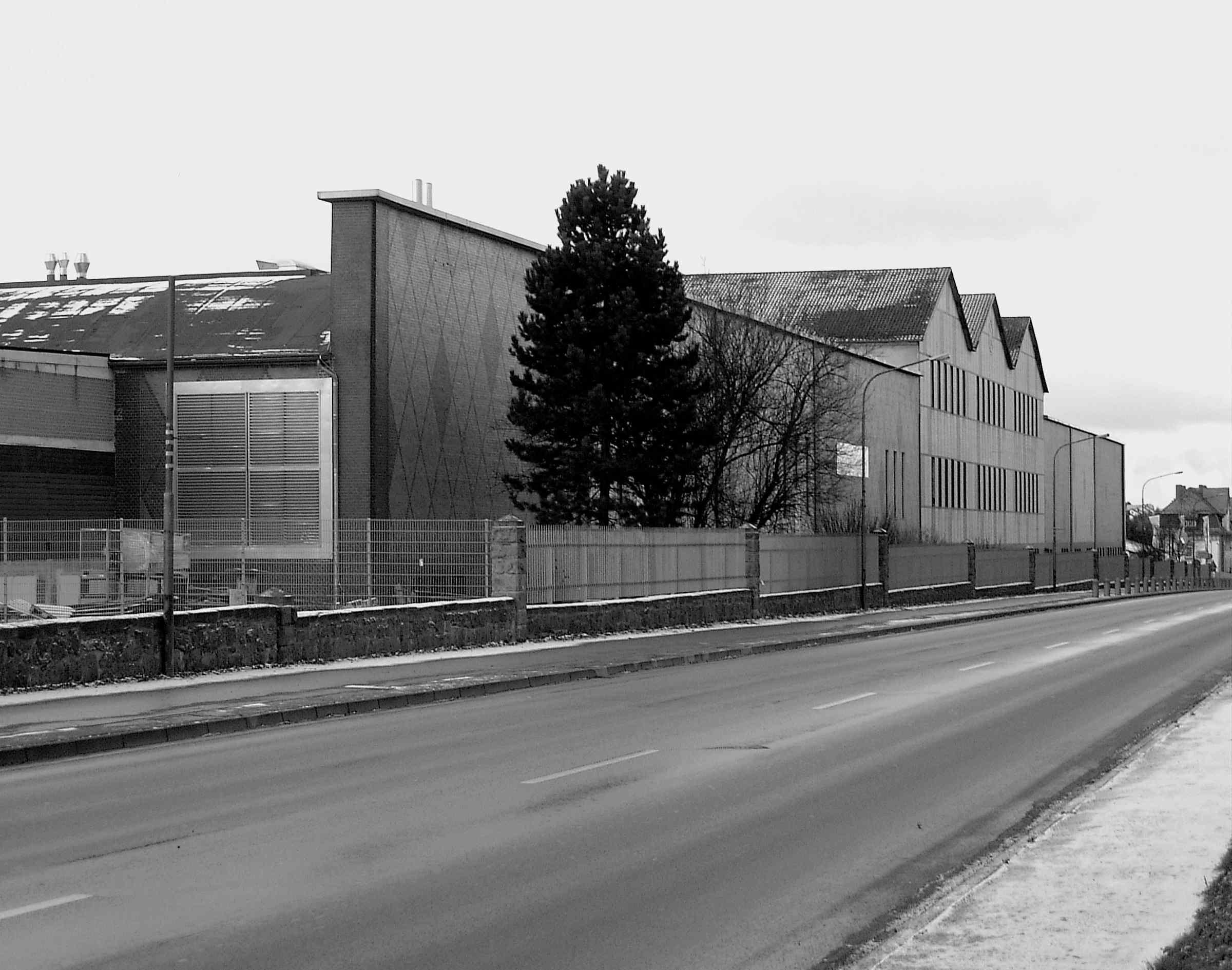 Das Firmengebäude der Druckerei Vogt Foliendruck an der Leipziger Straße