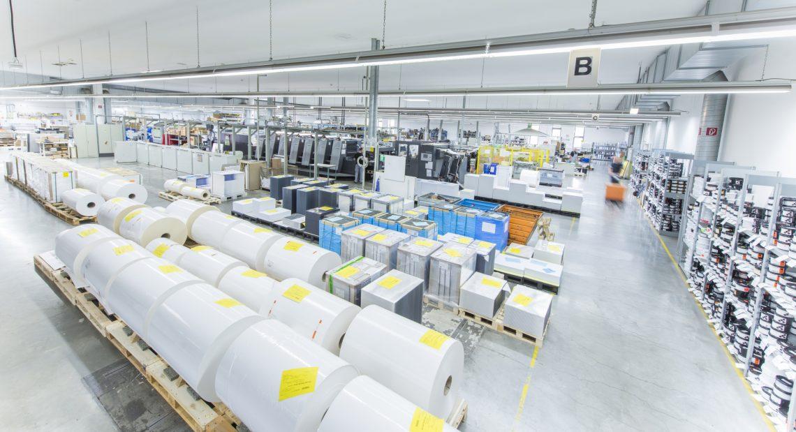 Produktionshalle der Druckerei Vogt