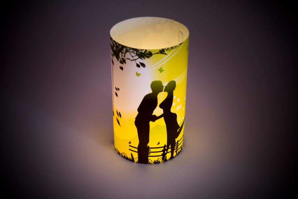 Teelicht Lampenschirm drucken