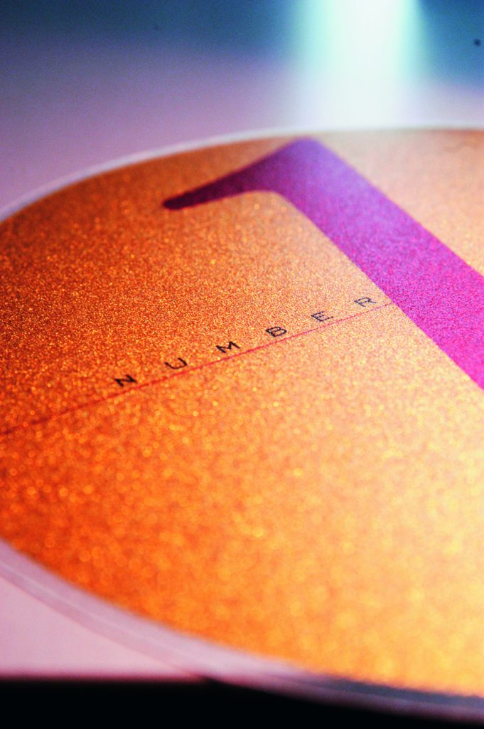 Druckerei für Imagedrucke für Glitzereffekt