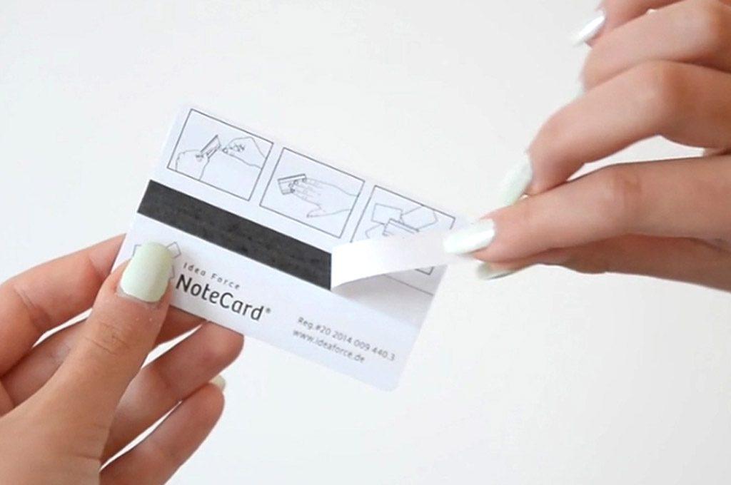 NoteCard Notizhalter als Werbemittel drucken