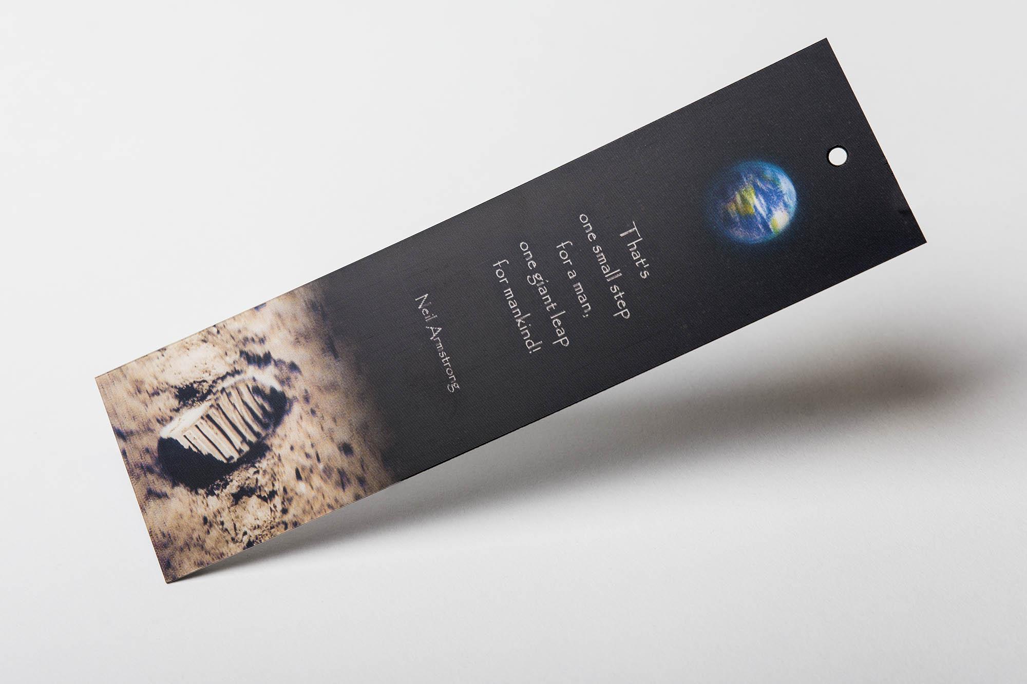 Lenticular Lesezeichen als Werbeartikel drucken
