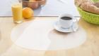 Tischset oval transparent