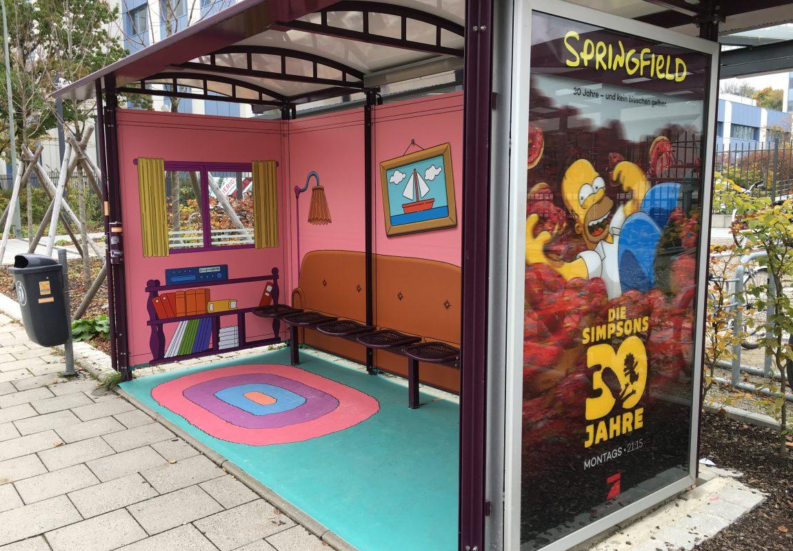 3D-Plakat Simpsons Vogt