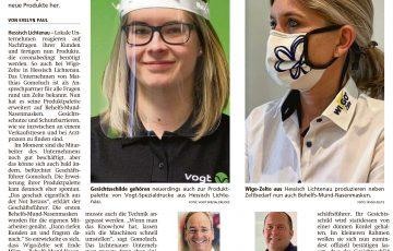 Witzenhaeuser-Allgemeine 22.04.2020 Vogt-Produkte zum Schutz vor Corona