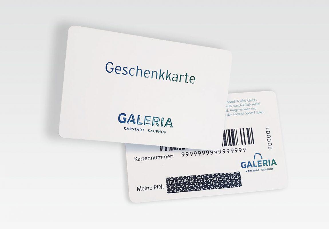 Plastikkarten mit Veredelung drucken von Vogt
