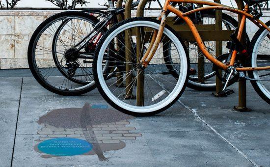 Fußbodenaufkleber outdoor transparent von Vogt