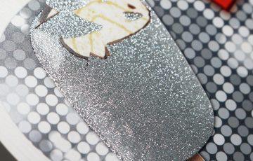 Schild POS drucken mit Veredelung Glitter von Vogt